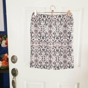 ●3/$10 Merona Stretch Printed Midi Skirt sz 2